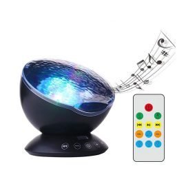 Ocean Wave Night Light Projector With Music Player