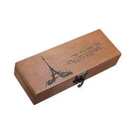 Retro Wooden Pencil Case
