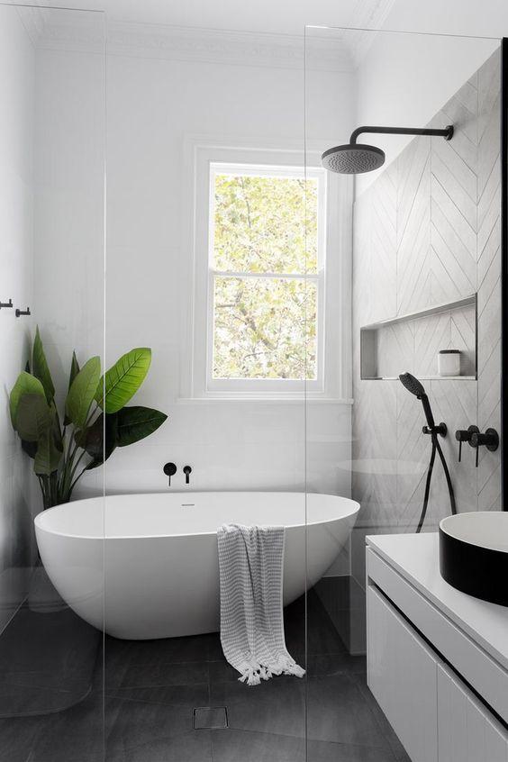 40+ Gorgeous Modern Scandinavian Bathroom Ideas