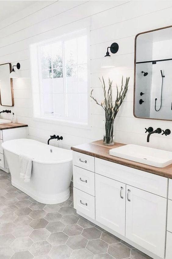 Scandinavian bathroom - all white bathroom