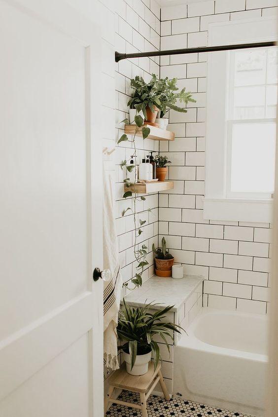 Scandinavian bathroom - bohemian style