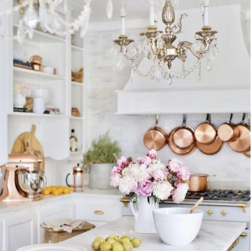 stylish ways to display your copper cookware