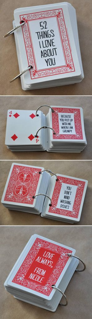 Top Valentine's Day DIY Ideas 52 love card deck momooze.com online magazine for moms