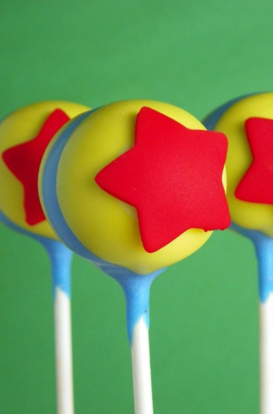 toy story cake pops for baby shower party