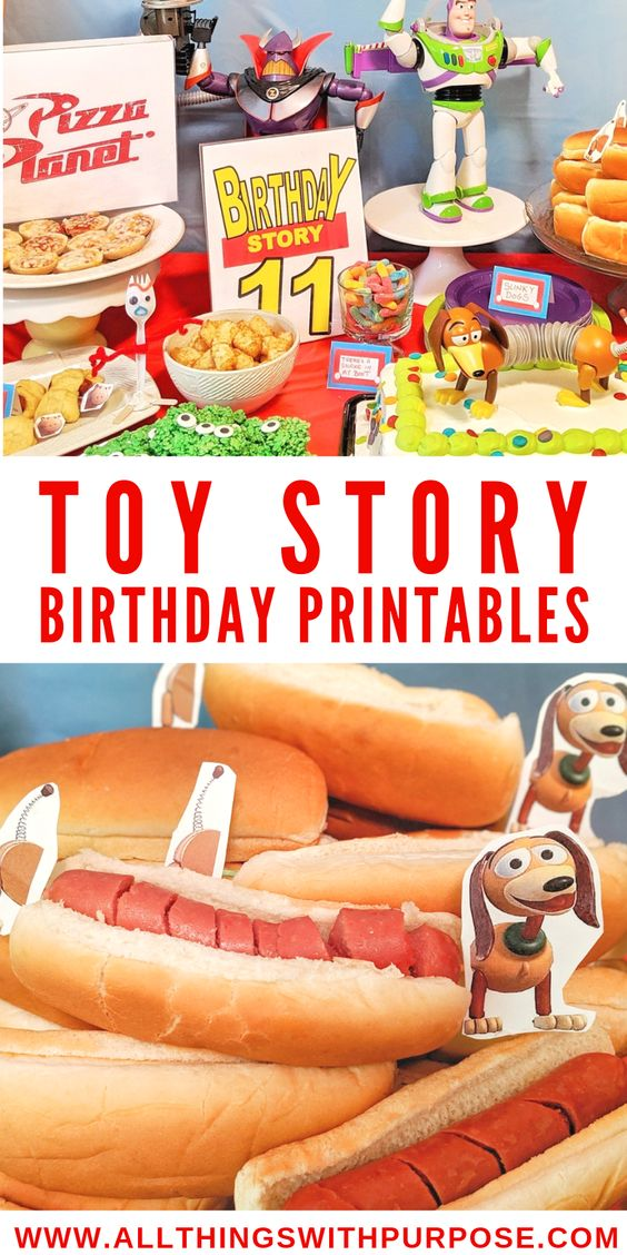 free printables for planning a toy story baby shower party