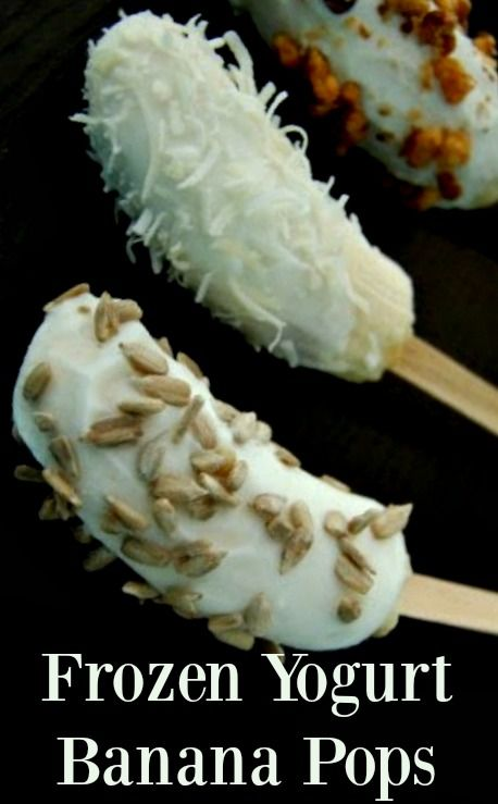 Yogurt banana pops
