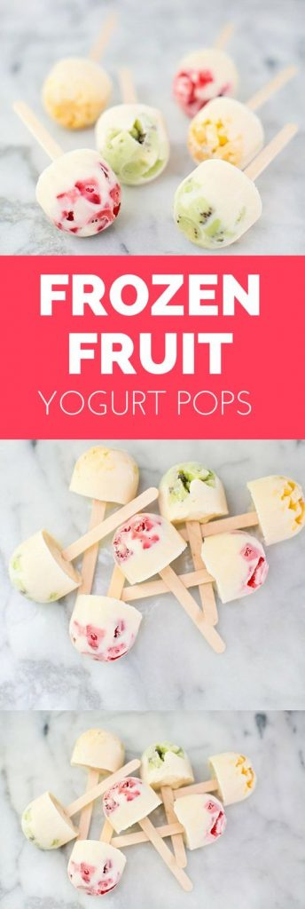 Yogurt fruit pops