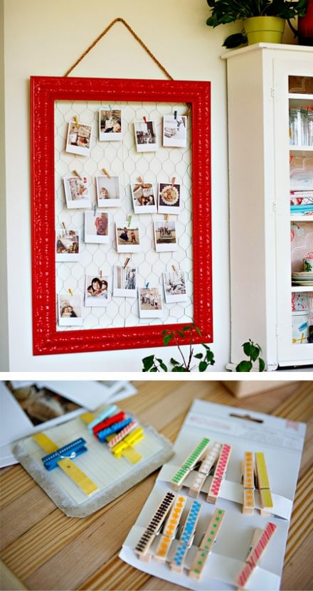 organize photos on wall