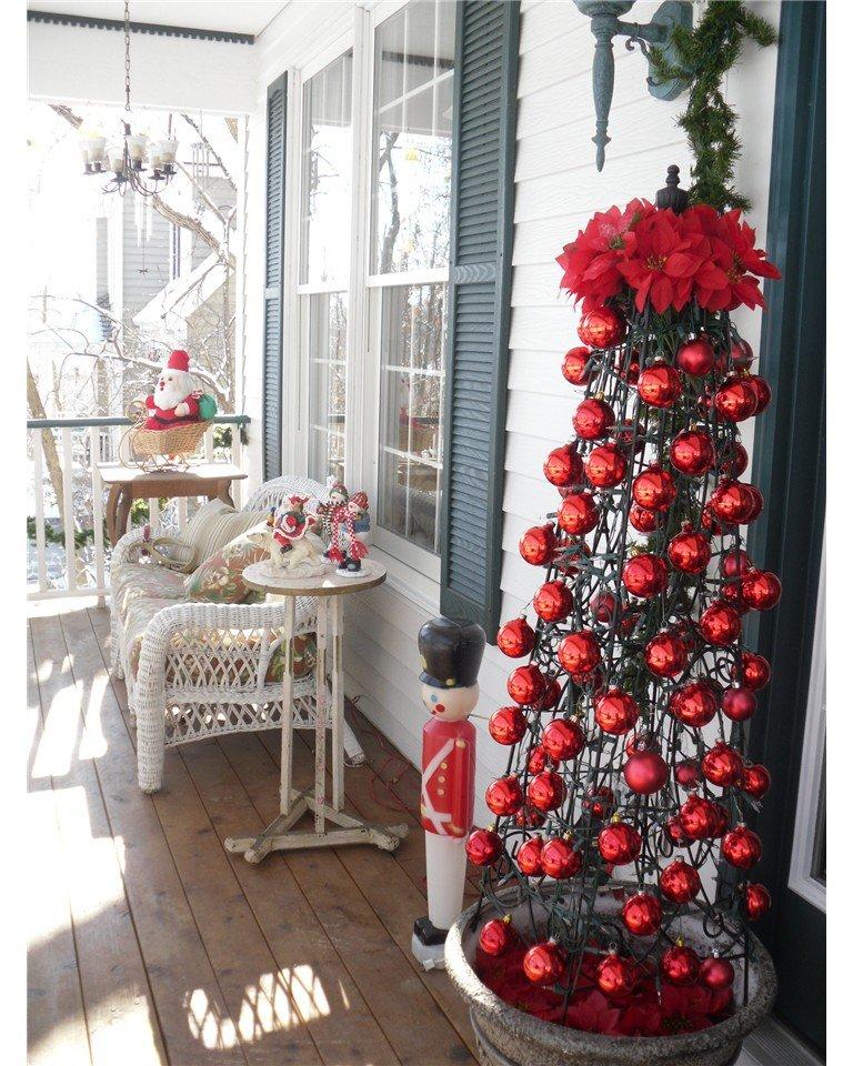 best christmas porch decoration ideas christmas fake christmas tree momooze.com online magazine for modern moms