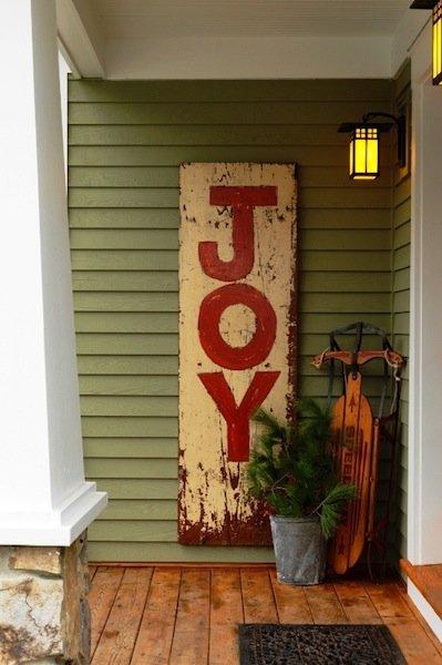 best christmas porch decoration ideas christmas joy sign momooze.com online magazine for modern moms