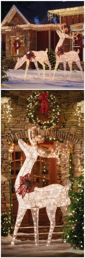 best christmas porch decoration ideas christmas lights reindeers momooze.com online magazine for modern moms