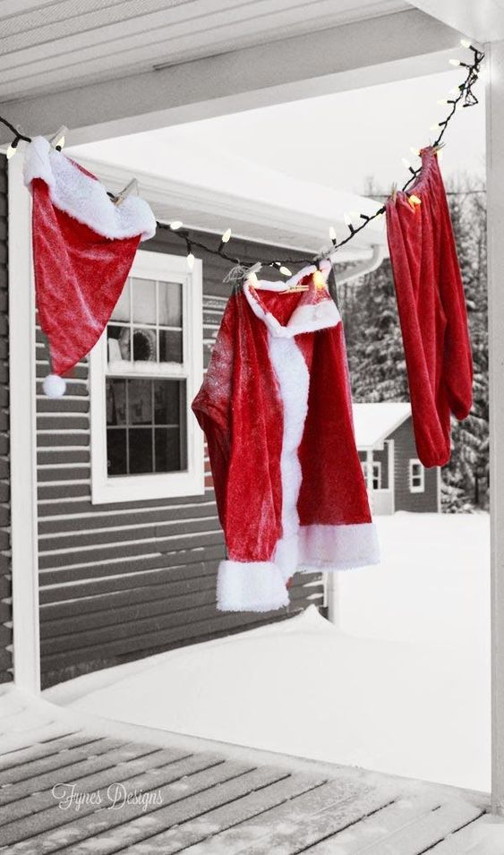 best christmas porch decoration ideas christmas santa laundry momooze.com online magazine for modern moms