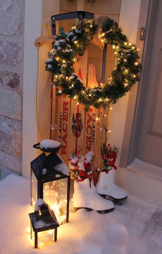 best christmas porch decoration ideas christmas sleigh outdoor decoration momooze.com online magazine for modern moms