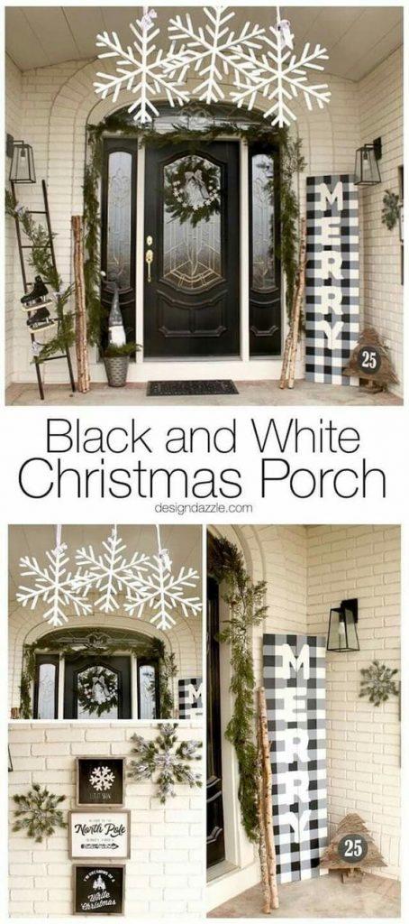best christmas porch decoration ideas decor black and white christmas decor inspiration momooze.com online magazine for modern moms