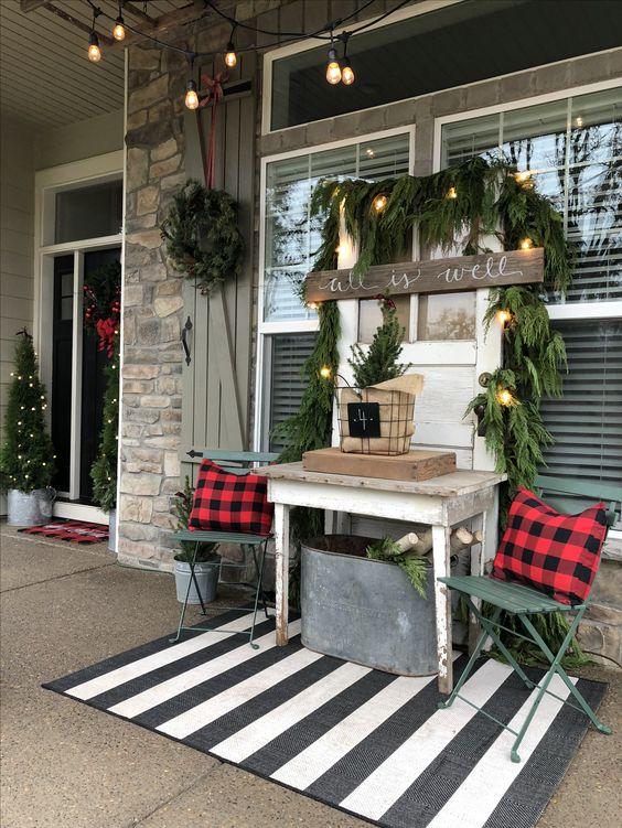 best christmas porch decoration ideas decor cozy porch farmhouse inspiration momooze.com online magazine for modern moms