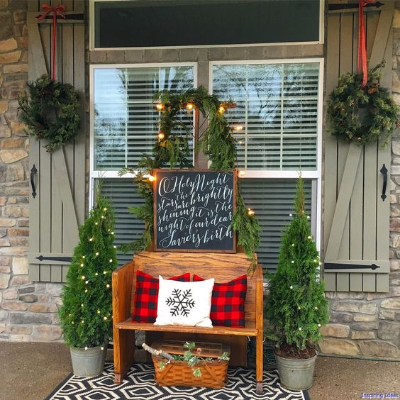 best christmas porch decoration ideas simple momooze.com online magazine for modern moms