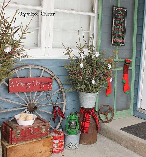 best christmas porch decoration ideas vintage christmas decoration momooze.com online magazine for modern moms