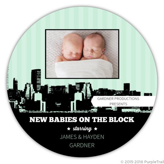 birth announcement purpletrail.com momooze.com online magazine for modern mom TwinBaby 3 new babies on the block