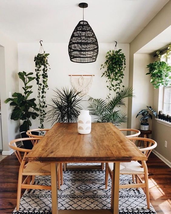 35 Gorgeous Modern Bohemian Dining Room Ideas Momooze