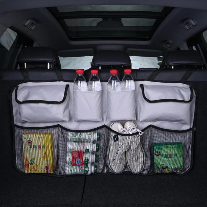 car booth organizer grey