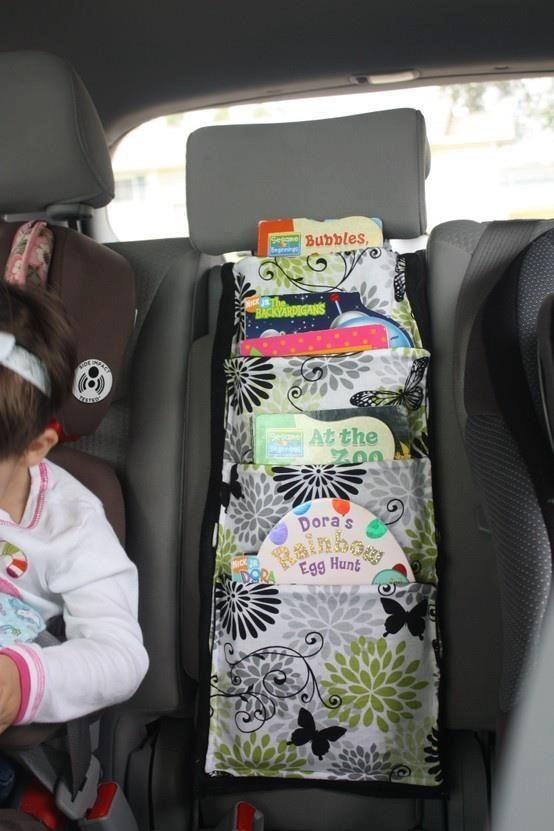 car hacks backseat organizer book momooze.com online magazine for moms