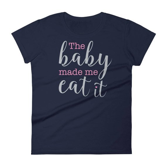 christmas pregnancy tops cute baby made me eat it momooze.com online magazine for modern moms
