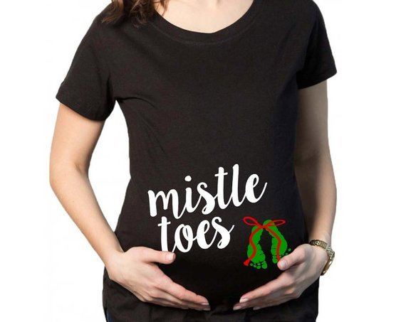 christmas pregnancy tops cute mistle toes momooze.com online magazine for modern moms