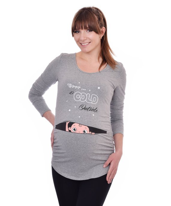 christmas pregnancy tops cute cold outside momooze.com online magazine for modern moms