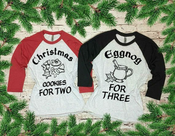 christmas pregnancy tops eggnog for three momooze.com online magazine for modern moms