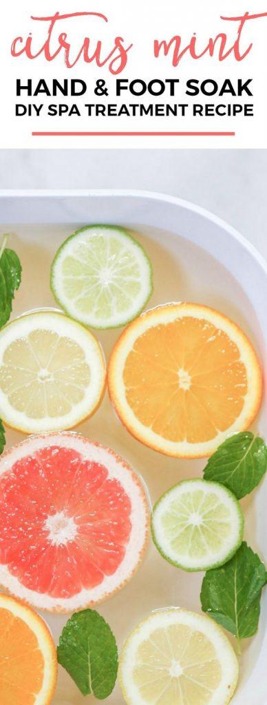 citrus mint hand and foot soak
