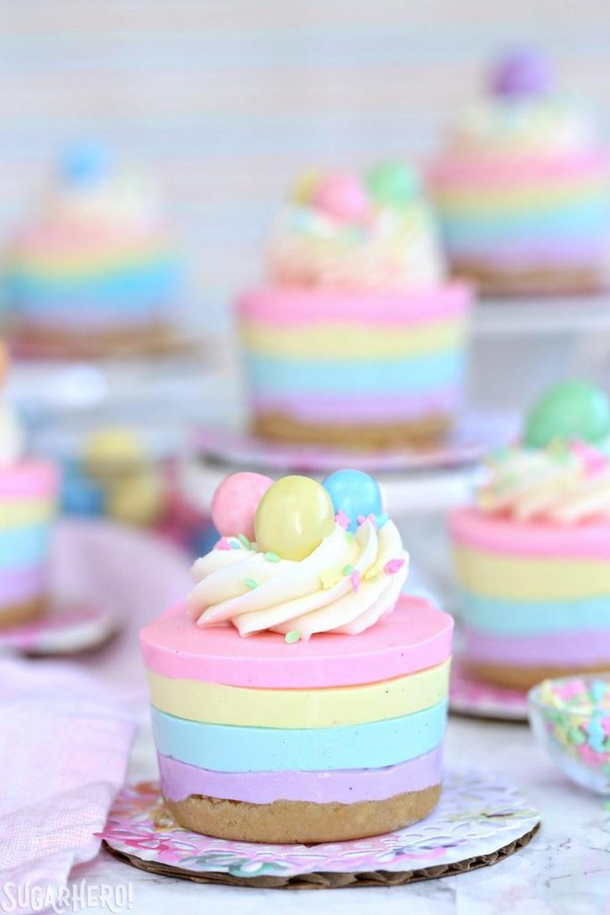 delicious Easter brunch recipes no bake mini cheesecakes momooze.com online magazine for moms