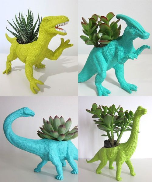 The Star of the Home: Dinosaur Planter