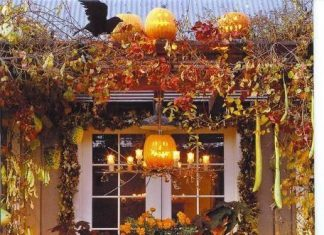 fall dining decor pumpkin jack o lantern candle table inspiration momooze.com