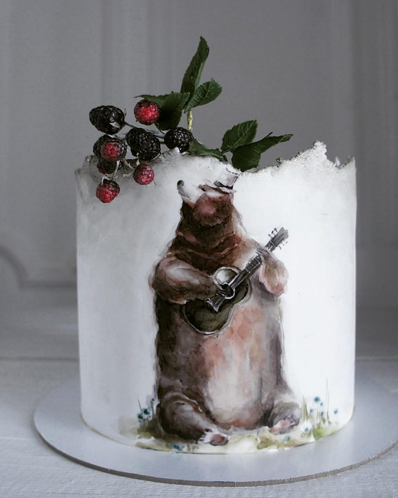 for heavens cake stunning delicious beautiful painted bear white cake momooze.com online magazine for moms
