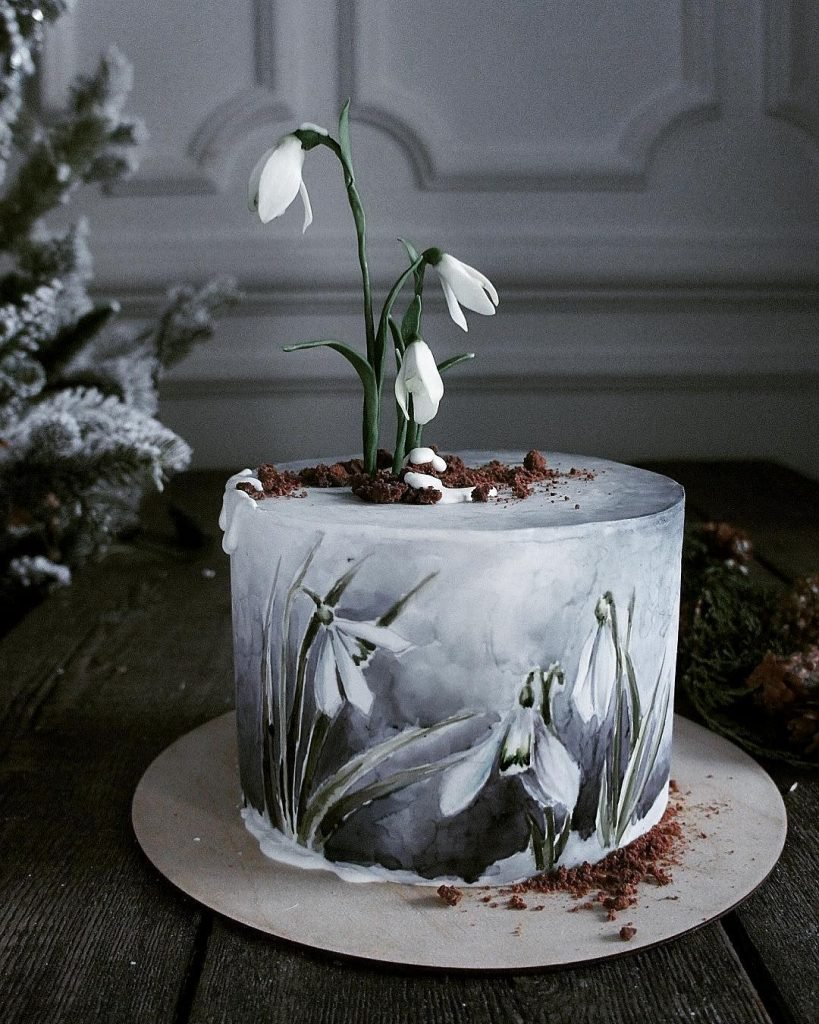 for heavens cake stunning delicious beautiful painted snowdrop cake momooze.com online magazine for moms