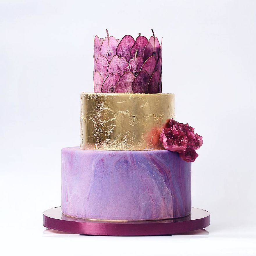 for heavens cake stunning delicious beautiful purple gold magic cake momooze.com online magazine for moms