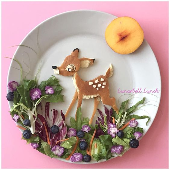 getting creative with fruits and vegetables fruit art bambie plate momooze.com picturesque playground for moms