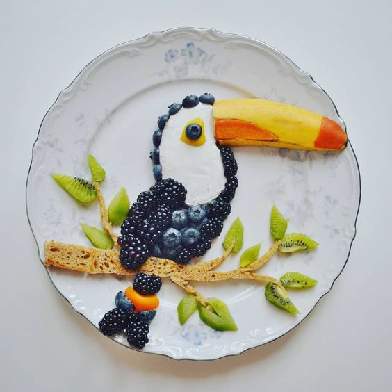 getting creative with fruits and vegetables fruit art toco toucan momooze.com picturesque playground for moms