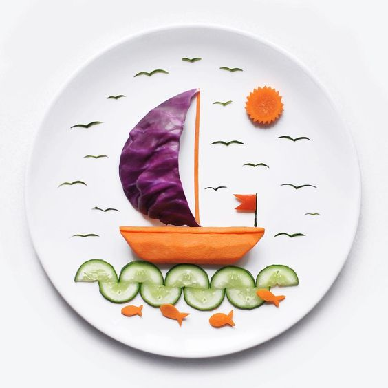 getting creative with fruits and vegetables vege boat momooze.com picturesque playground for moms