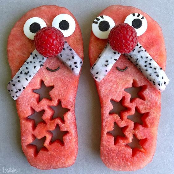 getting creative with fruits and vegetables watermelon shoes momooze.com picturesque playground for moms