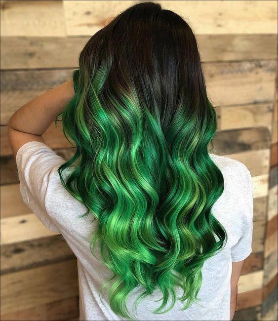 30 Glamorous Green Hair Styles Momooze Com