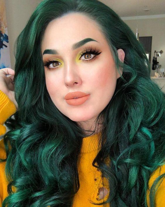 30+ Glamorous Green Hair Styles| momooze.com