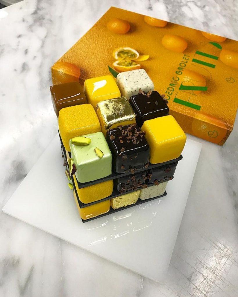 haute cuisine treats rubik cube cedrik grolet momooze.com online magazine for modern moms