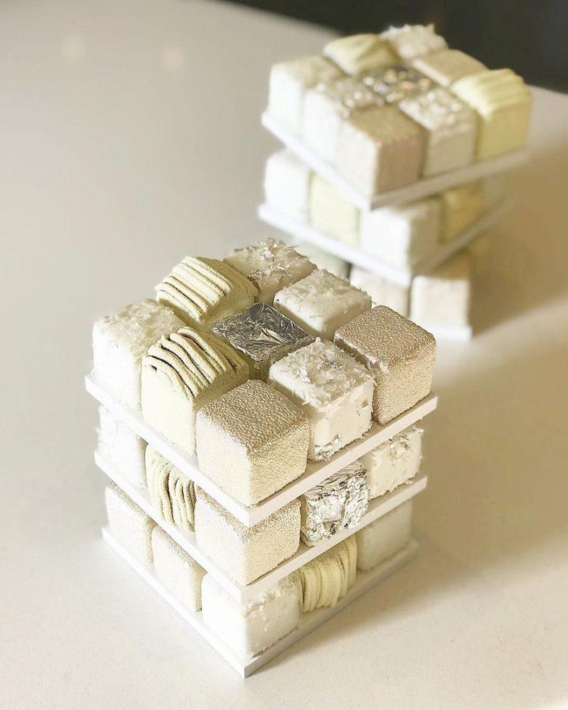 haute cuisine treats rubik cube ceric grolet white momooze.com online magazine for modern moms