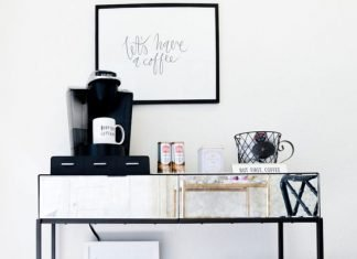home coffee station ideas for small spaces or counter tops