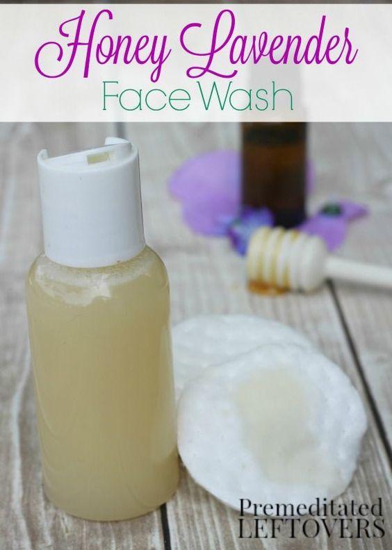 honey lavender face wash
