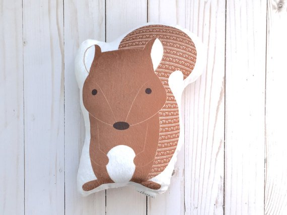 forest animal pillow
