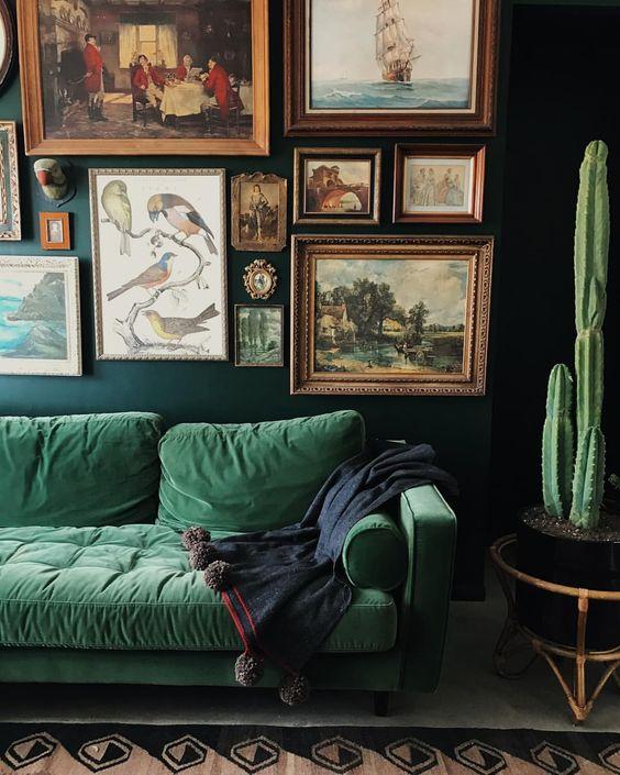 interior individuality green fabric sofa momooze.com online magazine for moms