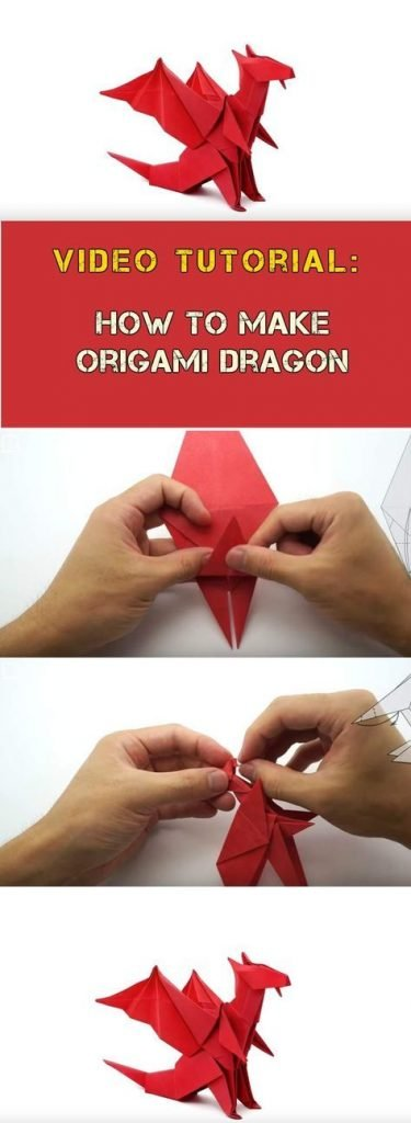 Origami - How to make an easy origami dragon - YouTube | 1024x375