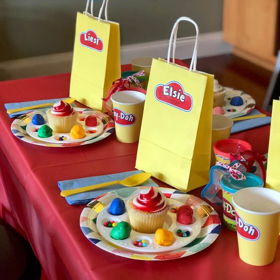 play dough party ideas